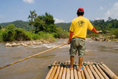 Bamboo Rafting in Thailand — Stock Photo