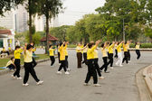 Tai Chi Practice in Park — Stock Photo