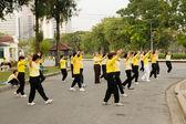 Tai Chi Practice in Park — Stock Photo