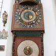 Astronomical Clock in St. Mary's Church - Stock Photo