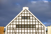 Triangular Top of a Building — Stock Photo