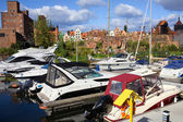 Marina in Gdansk — Stock Photo