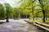 Saxon Garden in Warsaw — Stock Photo