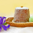 Easter cake and eggs - Stock Photo