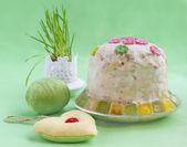 Twarogi ciasto wielkanocne — Zdjęcie stockowe