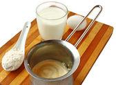 Preparation of the scalded cream — Stock Photo