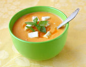 Soup of puree from a carrot — Stock Photo