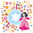 Glad background to the Purim — Stock Vector #9559580