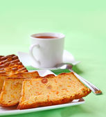 Semolina cake with a pumpkin and raisin — Stock Photo