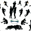 Rugby collection - vector - Stock Vector