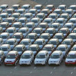 Stock Photo: Cars at port