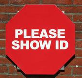 Show ID — Stock Photo