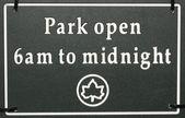 Parku znamení — Stock fotografie