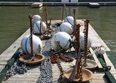 Barco doca — Fotografia Stock