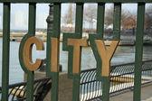 City word — Stock Photo