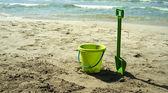 Green beach toys — 图库照片