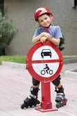 Street roller skater — Foto Stock