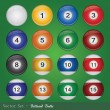 Billiard Balls — Vettoriali Stock