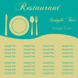 Sample Menu — Stock Vector