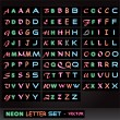 Neon Letter Set — Stock Vector