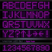 Purple Digital Font — Stock Vector