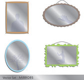 Mirrors — Stockvector