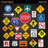 Road Signs — Stock Vector