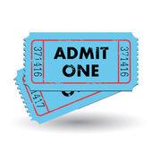 Biglietto d'epoca — Vettoriale Stock