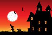 Twilight Scene — Stock Vector
