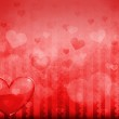 Valentines day background with hearts — Stock Photo