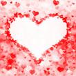 Heart shape from hearts — Stock Photo