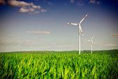 Estação de energia de turbina de energia de vento — Foto Stock
