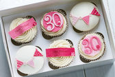 30th birthday cupcakes — Stock Photo