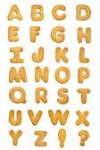 Alfabeto biscoito — Foto Stock