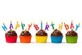 Cupcakes de aniversário — Foto Stock