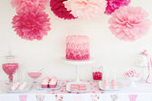 Dessert table — Stock Photo