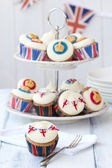 Royal Jubilee cupcakes — Stock Photo