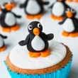 Penguin cupcake - Foto Stock