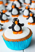 Penguin cupcake — Stock Photo