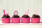Alla hjärtans cupcakes — Stockfoto