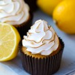 Lemon meringue cupcakes — Stock Photo #9017562