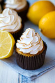 Lemon meringue cupcakes — Stock Photo