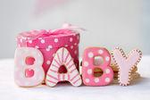 Cookies do chuveiro de bebê — Foto Stock