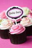 Cupcakes for a bake sale — Stock Photo