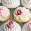 Wedding cupcakes — Stock Photo #9372888