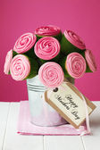Mother's day cupcake bouquet — Stock Photo