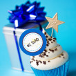 Stock Photo: Father's day cupcake