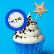 Father's day cupcake — Stock Photo #9632418