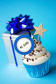 Father's day cupcake — Stock Photo