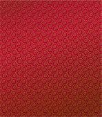 Vector pattern of golden curly spirals — Stock Vector